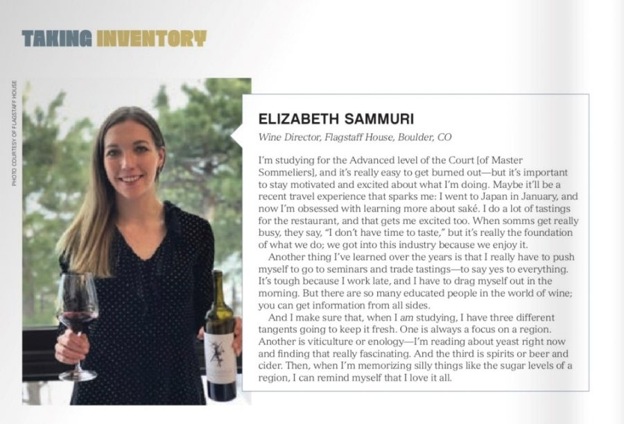 Tasting Panel Magazine: Taking Inventory